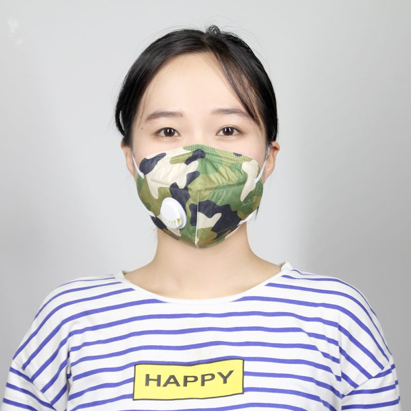 Customized Printing Spunlace Folding Mask